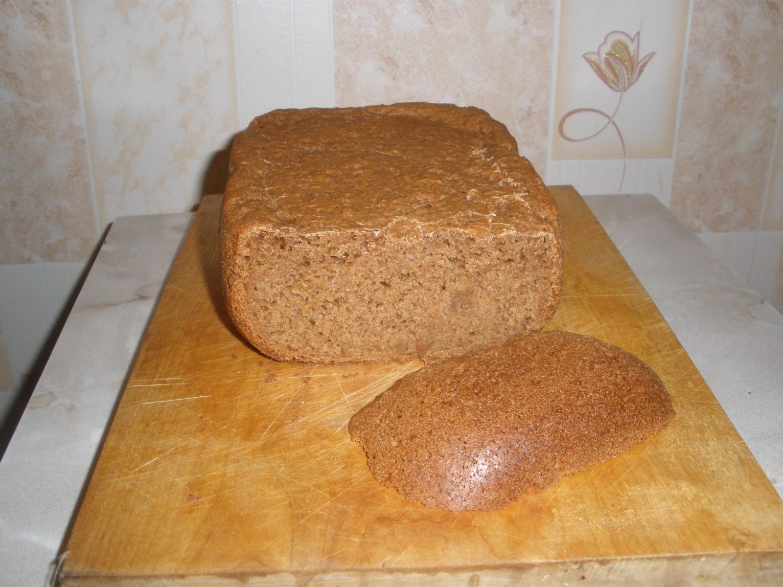 хлеб из ржаной муки в хлебопечке