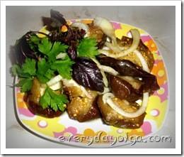 Холодная закуска из баклажанов