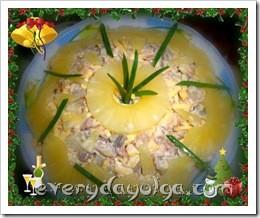 салат курица ананас нампиньоны