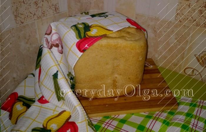 остывший хлеб в хлебопечке