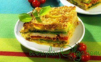капустная лазанья с фаршем готовое блюдо