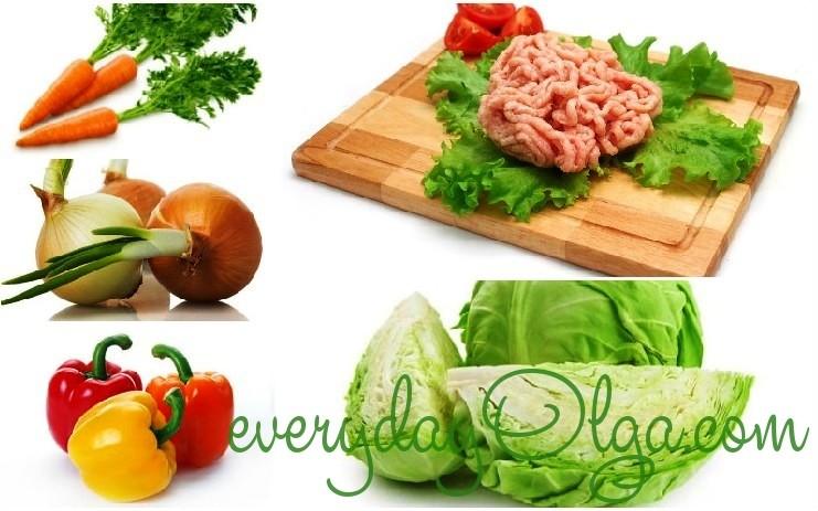 ингредиенты для капустной лазаньи