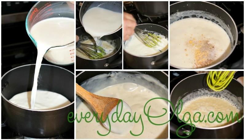 этап готовки бешамель фото