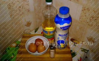 ингредиенты для омлета пуляр