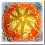 Миниатюра к статье Салат Лисичка с корейской морковкой